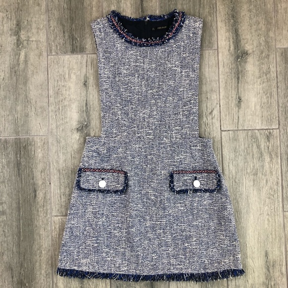 reliable quality best service meet Zara Boucle Tweed Pinafore Dress